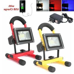 led rechargeable work lights portable cordless flood
