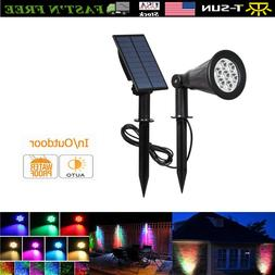 7LEDs Solar Spotlights Outdoor Garden Security Lighting Land