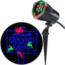 Gemmy LED Light Show Projection Plus-Whirl-a-Motion + Static