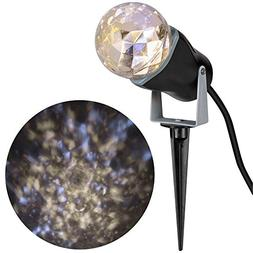 LightShow RARE LED Frozen Fire Projection Kaleidoscope Outdo