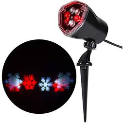 Gemmy Lightshow Red & White Snow Flurry Snowflake LED Projec