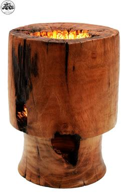 Massive Wood Cherry Romantic Table Lamp for Bedroom Bedside