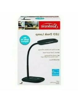 NEW SUNBEAM BLACK FLEXIBLE NECK LED DESK LAMP ADJUSTABLE LIG