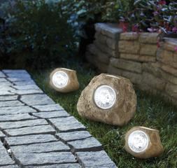 New Solar Rock Landscaping Spotlights LED Light Outdoor Lawn