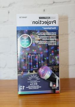 """NIB LED Light Show ~20 FT/6"""" Projection STAR SPINNER ~ Red/G"""