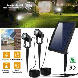 Outdoor Garden LED Waterproof IP65 Twin Solar Spot Lights La