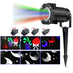 outdoor rotating led projection snowflake spotlight 10