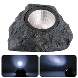 Outdoor Solar Powered Rock Spotlights Walkway Landscape Gard