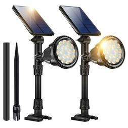 Outdoor Solar Spot Lights,18 Led Spotlights Waterproof Flood