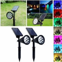 outdoor solar spot lights 7 color changing