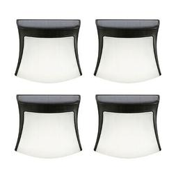 Pack of 4 Wall Fence Lights 3-LED Path Road Yard Deck Patio
