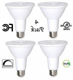 4 Pack Bioluz LED PAR30 LED Bulb, 12w Dimmable Flood Light B