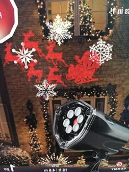 LED Projection Plus Whirl-a-Motion Santa, Sleigh, Snowflakes