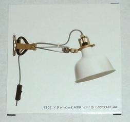 IKEA RANARP WALL/CLAMP SPOTLIGHT,OFF WHITE, LIGHTWEIGHT AND