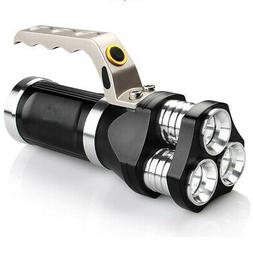 Rechargeable LED Searchlight Tactical Flashlight 3T6 Spotlig