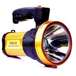 rechargeable led spotlight ultra bright flashlight handheld