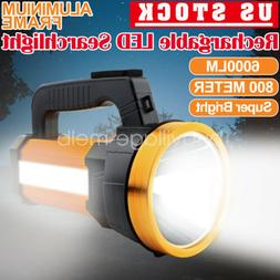 Rechargeable Searchlight LED Handheld Portable Spotlight Fla
