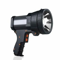 YIERBLUE Rechargeable spotlight, Super Bright 6000 Lumen LED