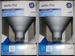 GE 65 Watt Soft White Floodlight BR40 Light Bulb, 2-Pack