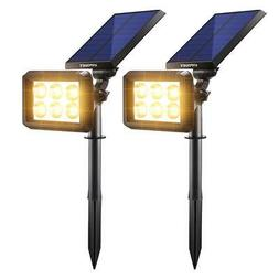 URPOWER Solar Lights Outdoor Upgraded, 2-in-1 Waterproof Sol