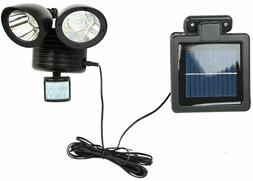 Solar Motion Sensor Detector Home Security Flood Light Guard