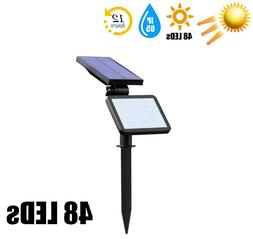 Solar Power 48 LED Spotlight Landscape Lights Outdoor Garden