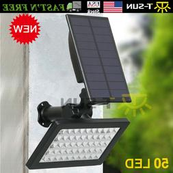 Solar Power 50-LED Spotlight Landscape Lights Outdoor Garden