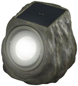 Duracell Solar Powered Green Rock Outdoor Spot Light Durable