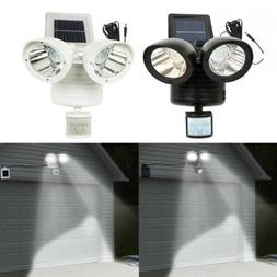 Solar Powered Motion Sensor Security Spotlight 22 LED Dual F
