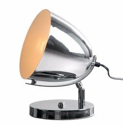Spot Light Modern Style Table Lamp in Chrome w/Slim Round Ba
