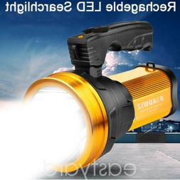 Super Bright LED Searchlight Flashlight Rechargeable Handhel