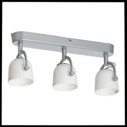 IKEA SVIRVEL Ceiling Track Light 3 Adjustable Spotlights 15""