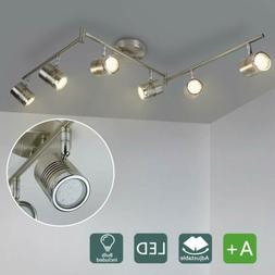 Swing Arm Rotatable LED Track Lights Ceiling Fixtures Spotli