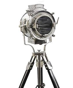 Vintage Modern Collectible Chrome Searchlight Home Black Scr