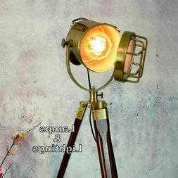 Vintage Spotlight Searchlight Vintage Brass Finish Spotlight