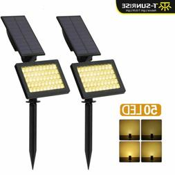 Waterproof 50LED Solar Spotlights Floodlights Outdoor Patio