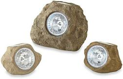 Weather Resistant Solar Rock Landscaping Spotlights
